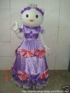 HELLO KITTY CAT PURPLE PRINCESS DRESS MASCOT COSTUME