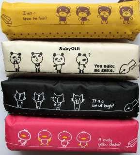 Cute Bear Panda Cat Chick Beauty Cosmetic MakeUp Bag / Pencil Pen Case