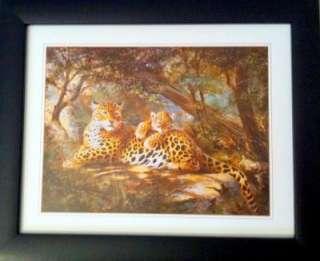 Framed Wild Endangered Cheetah Cub/Mom Big Cat Poster