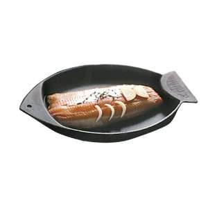 World Cuisine Black Cast Iron Fish Grill  Kitchen & Dining