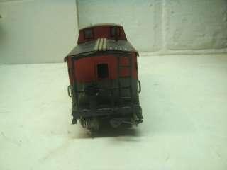 MARX TRAIN ENGINE #999 CAR CABOOSE O SCALE LOT WITH TRACK |