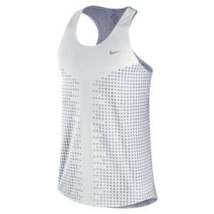 Nike RACE DAY SINGLET MENS Tank Top RACER BACK XL XLARGE WHITE GREEN