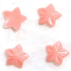 Zink Color Nail Art Salmon Pink Curve Star 4Pc