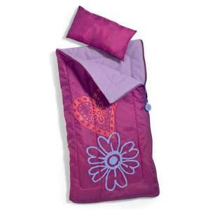 SOLD OUT American Girl AG Sleeping Bag Pillow Duffle Set Dolls Purple