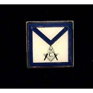 Master Mason Apron Masonic Freemason Lapel Pin