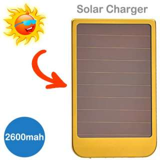 Portable 5000mAh USB Solar Power Charger 4 Tablet Phone iPhone 4S 4
