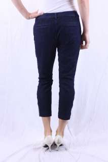 Dark Wash Low Rise City Fit Skinny Side Zip Capri Jeans 23559