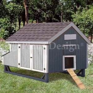 X6 Modern Style Chicken House Coop Plans 90506m