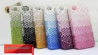 Black Bling Swarovski Crystal Case Cover For iPhone 4 4G 4S