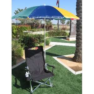 OASIS HEAVY DUTY COOL Chair w/ BIG UMBRELLA  Cell Phone Holder 10