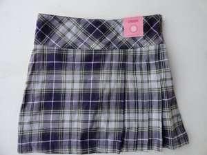 Gymboree Skort Skirt Purple Green Pleats Plaid Checked NEW 12