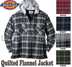 Dickies Hooded JACKET Plaid Flannel Shirt Jackets Quilted Linning HOOD