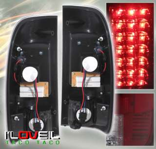 1997 2003 FORD F150 F 150 40 LED TAIL LIGHTS SMOKED/RED