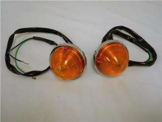 Chevy Truck Amber Parking Lamp Light Lens Assembly Pair