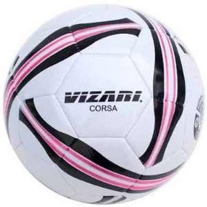 Vizari Corsa Soccer Balls WHITE/PINK/BLACK 5