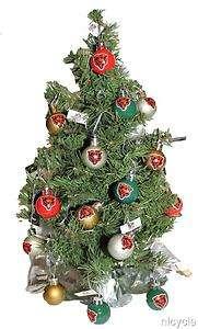 Chicago BEARS NFL CHRISTMAS TREE With 16 Colorful BEARS BEAR Logo