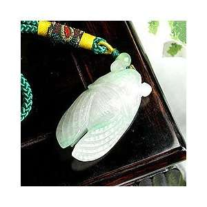 Perfect Gift   High Quality Cicadas with Green Macrame (Jade B) (2458)
