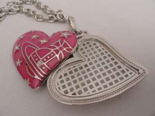 BN Vivienne Westwood Silver ORB Heart Pendant Necklace  BOXED  Great
