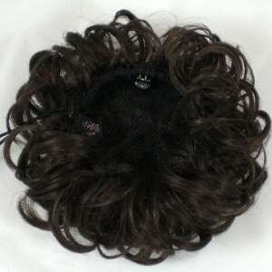 Bun Based Chignon Updo w/Drawstring Pageant Hairpiece