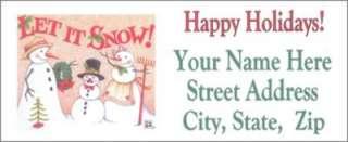 Christmas Address Labels Mary Engelbreit Theme Snow