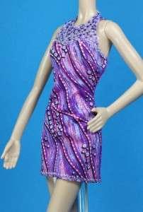 Purple Pink White Print Dress Barbie Fashionistas