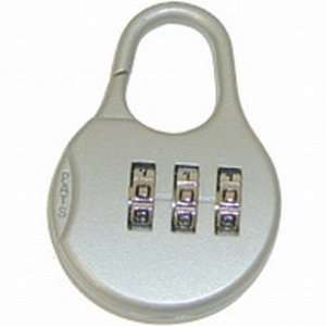 City Lights Round Silver Combination Lock Beauty