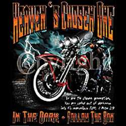 Heavens Chosen One SS T Shirts Christian Biker