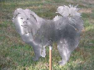 Chow Dog yard garden art statue stake metal