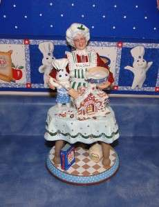 Pillsbury Doughboy Mrs. Claus Christmas Figurine Doll