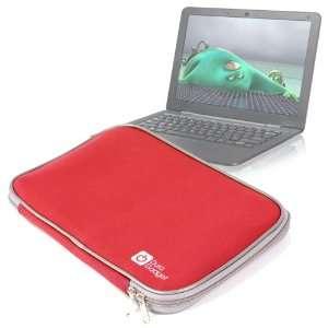 Sleek Red Water Resistant Neoprene Protective Laptop