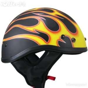 DOT Certified Black Tribal Half Helmet