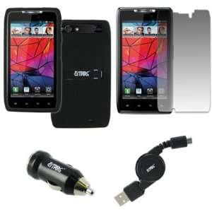 EMPIRE Motorola DROID RAZR Rubberized Case Cover (Black