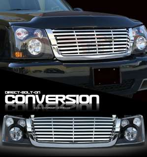 2006 CHEVY AVALANCHE w/o BODY CLADDING GRILLE+HEADLIGHT CONVERSION KIT