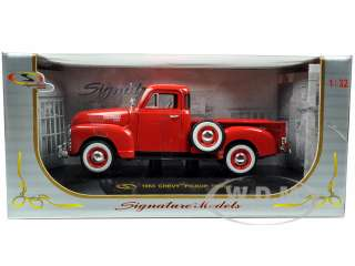 1953 Chevrolet 3100 Pickup Truck Red die cast car by Signature Models