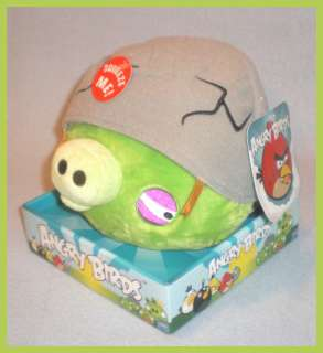 Angry Birds 8 Plush Green Pig with Helmet Sound NEW