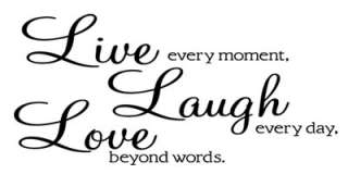 LIVE   LAUGH   LOVE Removable Wall Quote Decal Sticker Wall Art Decor