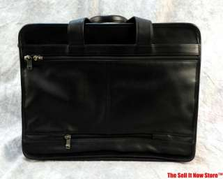 LEATHER BAG CASE FILE FOLDER BRIEFCASE ATTACHE LAPTOP BUSINESS TOTE