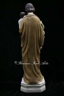 St Saint Joseph with Baby Jesus Holy Child Italian Statue Vittoria