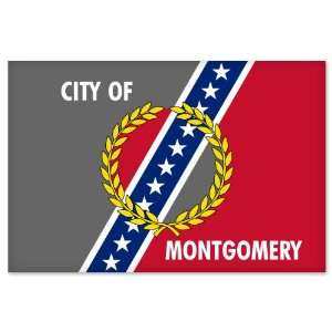 Montgomery Alabama City Flag car bumper sticker window decal 5 x 3