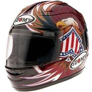 Suomy Spec 1R Old America Helmet   Large/American Eagle Automotive