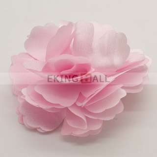 Korean Stylish Silky Rose Flower Hat Hair Clip Brooch Pin 5 Colors