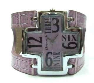 Purple Rare Men Lady Chronovski Cross Watches ROG519