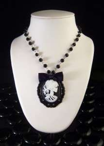 Day of the Dead Girl Silhouette Framed Necklace 630 F
