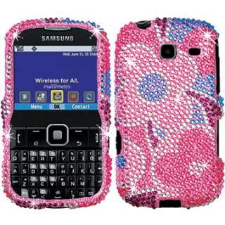 FACEPLATE HARD CASE COVER SAMSUNG FREEFORM 3 R380 FLOWERS PINK