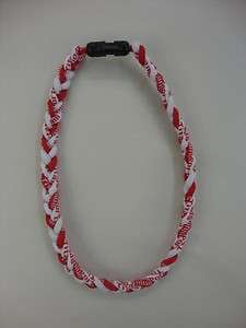 SPORTS ENERGY TITANIUM ENERGY 20.5 NECKLACE RED/WHITE
