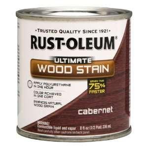 Rust Oleum 260373 Ultimate Wood Stain, Half Pint, Cabernet