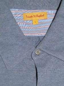 Tricots St. Raphael Mens L/S Button Front Shirt ~ LARGE