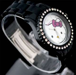 New HelloKitty Girl Lady Women Crystal Wrist Watch,Xmas Gift, DK6 BK