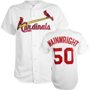 Adam Wainwright White Majestic MLB Home Replica St. Louis Cardinals
