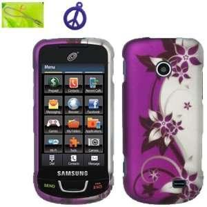 Samsung StraightTalk T528g Purple Silver Vine Flower